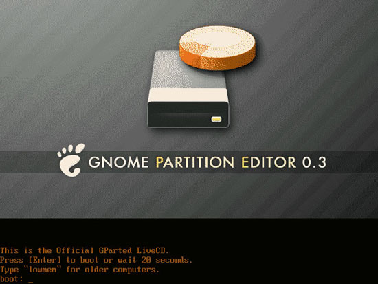 GNOME Partition Editor