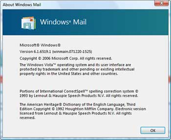 Windows Mail Windows Seven