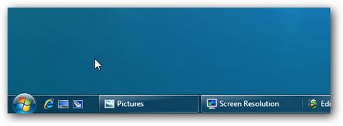 Панель быстрого запуска на панели задач в Windows 7