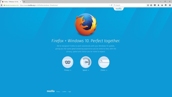 Вышел Firefox для Windows 10