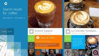 Вышла версия Foursquare для Windows 8/RT