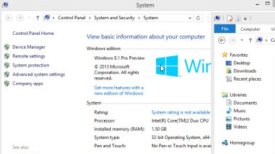 Windows 8.1 build 9364 получила статус Pro Preview