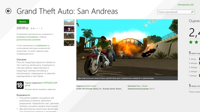 Grand Theft Auto: San Andreas - теперь и на Windows 8.1