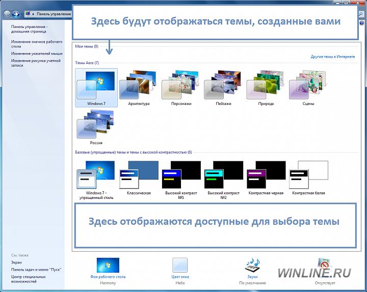 Как создать свою тему Windows 7, фотография 1